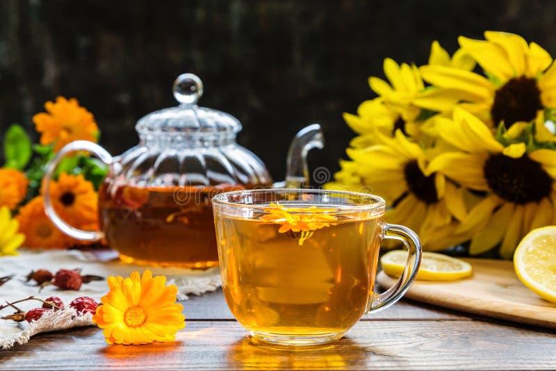 Εικόνα με το τσάι στοκ φωτογραφίες