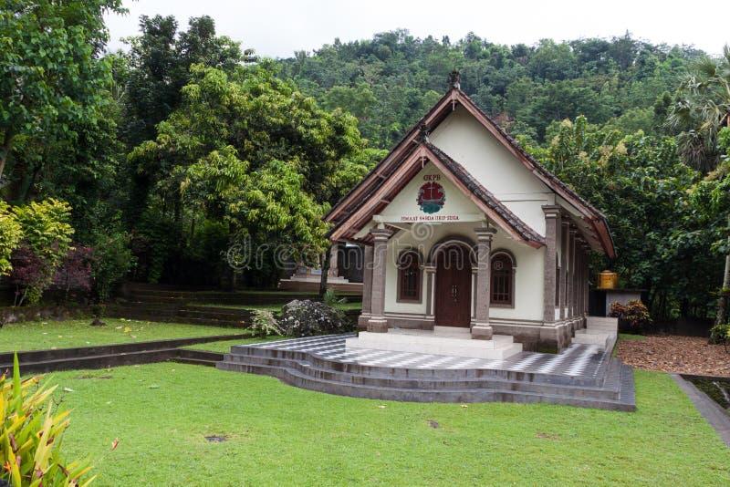 Εικόνα μιας καθολικής εκκλησίας στο Μπαλί στοκ εικόνα