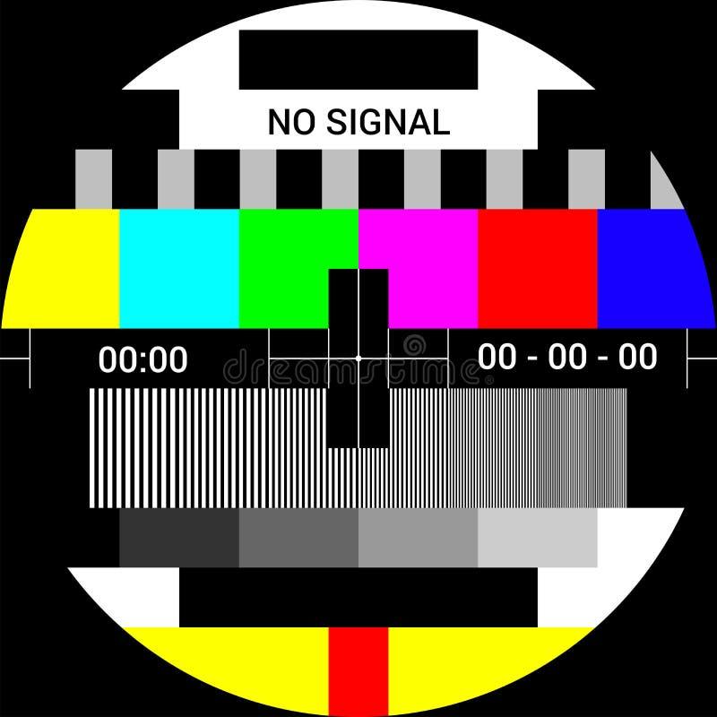 Εικόνα δοκιμής TV διανυσματική απεικόνιση