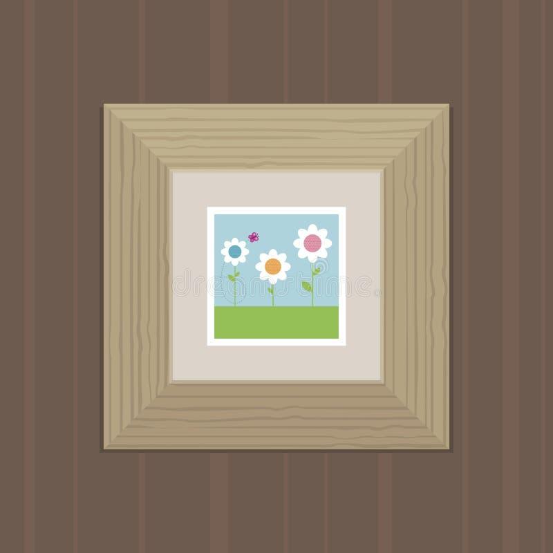 εικόνα πλαισίων ξύλινη απεικόνιση αποθεμάτων