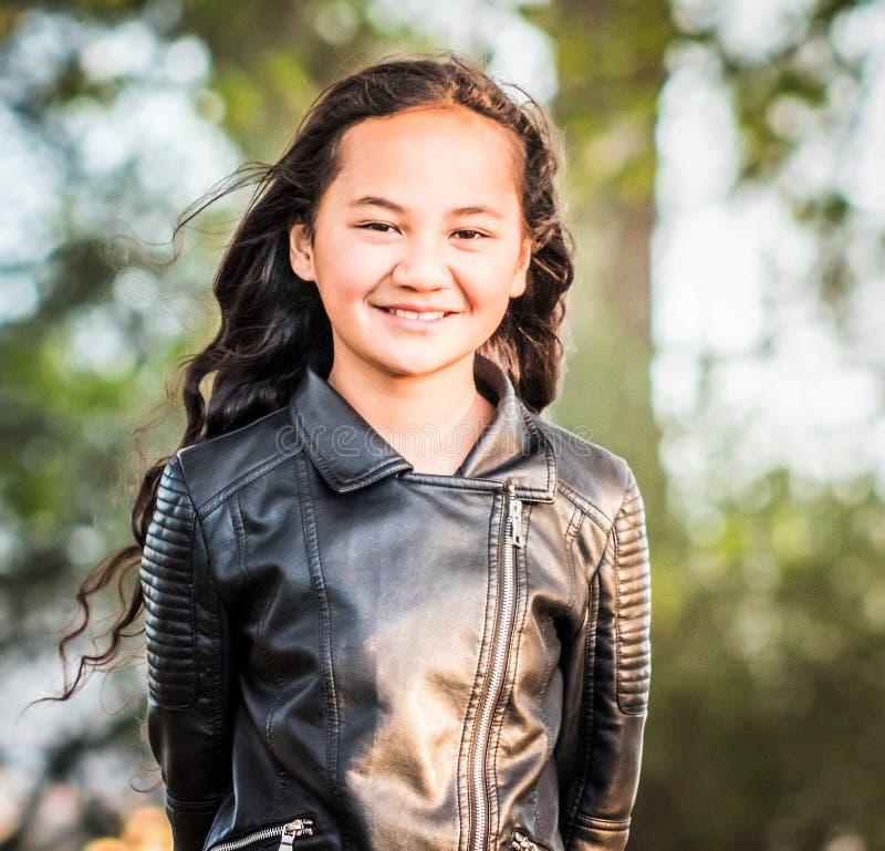 Εικόνα πορτρέτου ενός νέου Maori κοριτσιού στοκ φωτογραφία με δικαίωμα ελεύθερης χρήσης