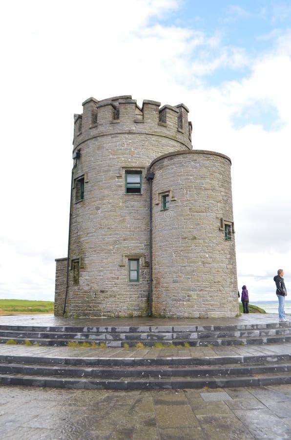 Εικόνα πορτρέτου του πύργου Ο ` Brien ` s στους απότομους βράχους Moher στη κομητεία Clare, Ιρλανδία στοκ εικόνες με δικαίωμα ελεύθερης χρήσης