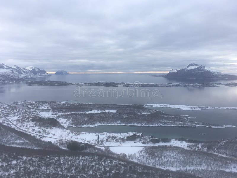 Εικόνα που λαμβάνεται από Sandnestiden στο βόρειο τμήμα της Νορβηγίας στοκ φωτογραφία με δικαίωμα ελεύθερης χρήσης