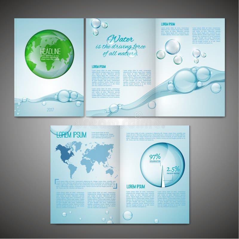 Εικόνα προτύπων φυλλάδιων απεικόνιση αποθεμάτων