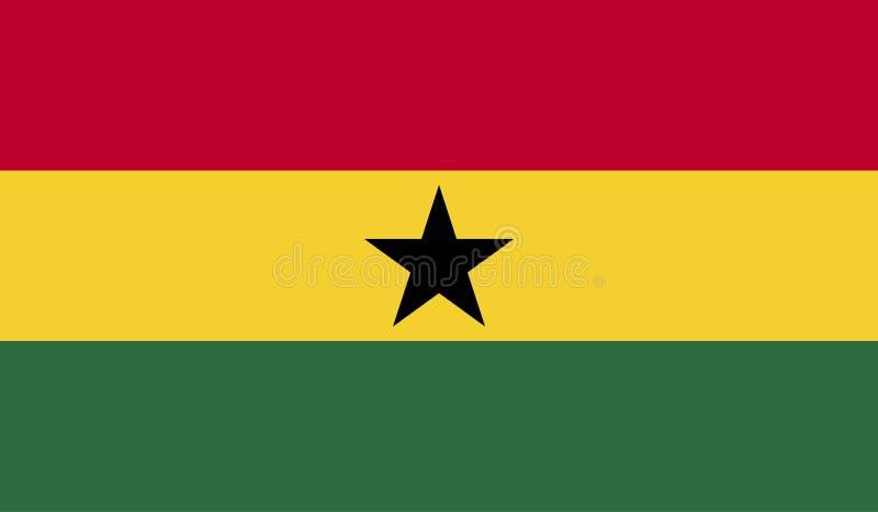 Εικόνα σημαιών της Γκάνας απεικόνιση αποθεμάτων