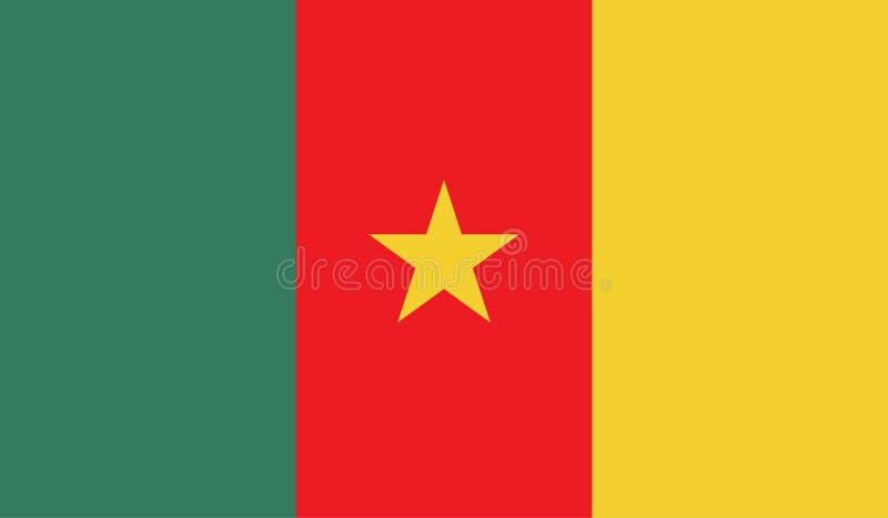Εικόνα σημαιών του Καμερούν απεικόνιση αποθεμάτων