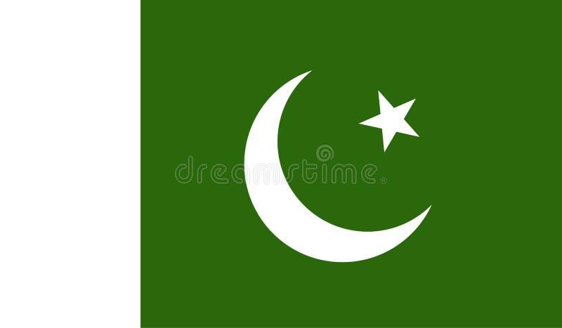 Εικόνα σημαιών του Πακιστάν διανυσματική απεικόνιση