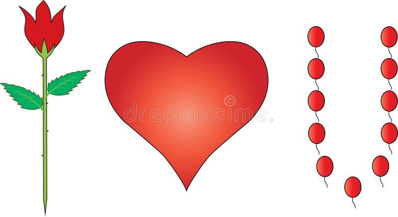 Εικόνα της αγάπης ι εσείς στοκ εικόνες