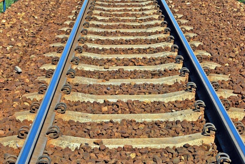 Εικόνα της κινηματογράφησης σε πρώτο πλάνο διαδρομών σιδηροδρόμων στοκ φωτογραφία με δικαίωμα ελεύθερης χρήσης