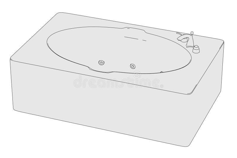 Εικόνα της μπανιέρας - λουτρό διανυσματική απεικόνιση