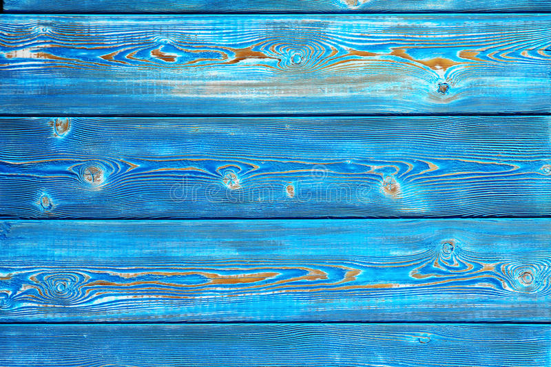 Εικόνα του ανώμαλου εκλεκτής ποιότητας ξύλινου υποβάθρου που χρωματίζεται με το μπλε χρώμα στοκ εικόνα με δικαίωμα ελεύθερης χρήσης