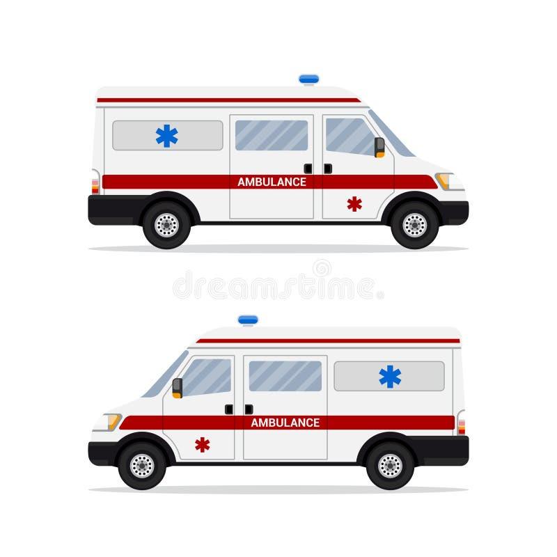 Εικόνα του αυτοκινήτου ασθενοφόρων διανυσματική απεικόνιση