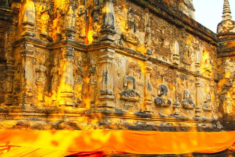 Εικόνα του Βούδα σε Wat Jed Yod, Chiang Mai, Ταϊλάνδη στοκ φωτογραφίες με δικαίωμα ελεύθερης χρήσης