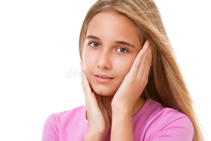 Εικόνα του καλού νέου κοριτσιού απομονωμένος στοκ φωτογραφία με δικαίωμα ελεύθερης χρήσης