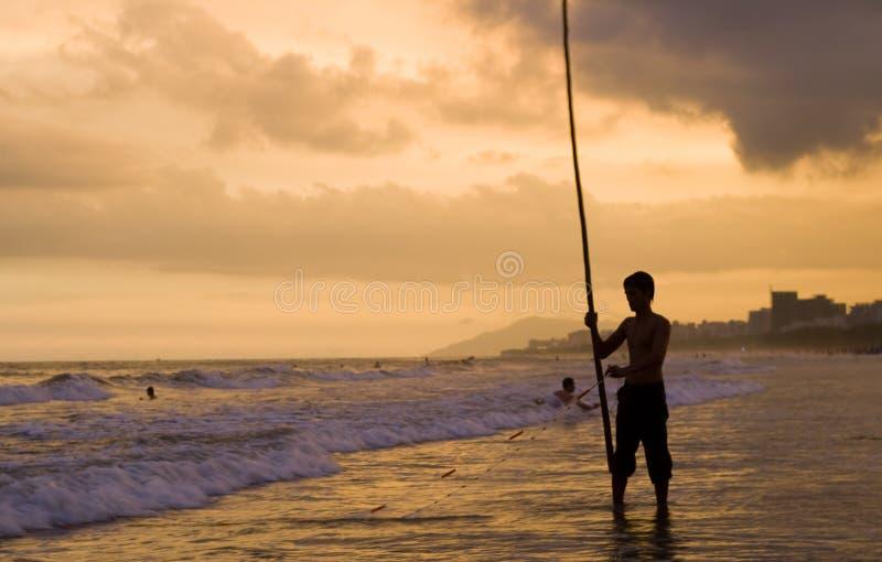 Εικόνα του νέου ψαρά Hainan στοκ εικόνες με δικαίωμα ελεύθερης χρήσης