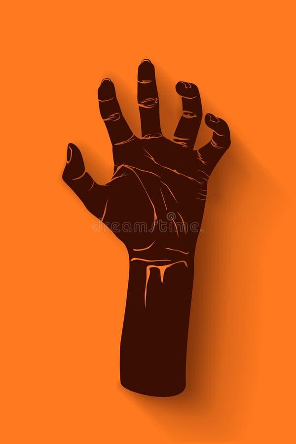 Εικόνα του χεριού zombie ελεύθερη απεικόνιση δικαιώματος