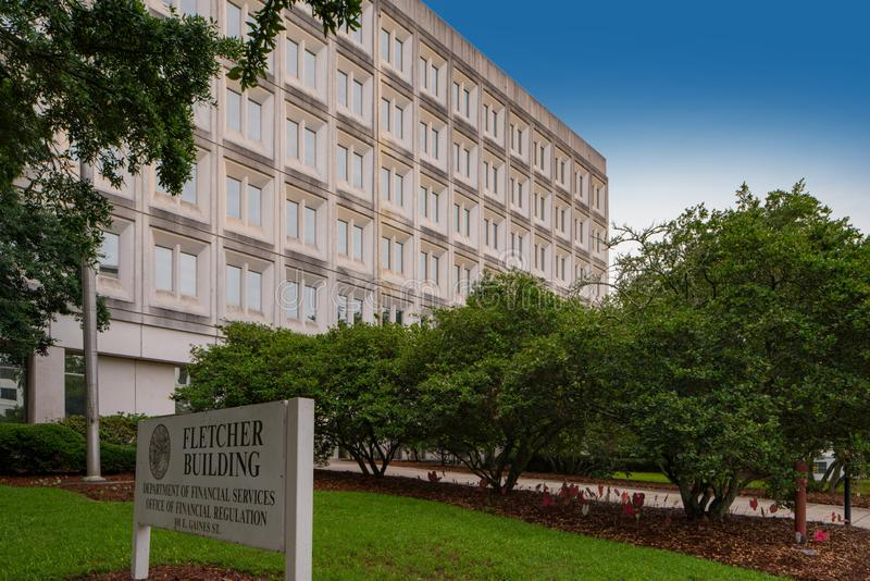 Εικόνα του Fletcher που χτίζει το στο κέντρο της πόλης ΛΦ Tallahassee στοκ φωτογραφία με δικαίωμα ελεύθερης χρήσης