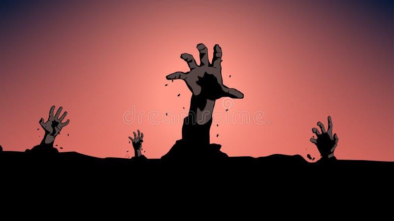 Εικόνα του zombie διανυσματική απεικόνιση