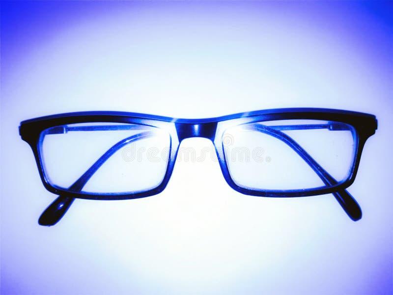 Εικόνα των γυαλιών στο φως UEBL στοκ εικόνα