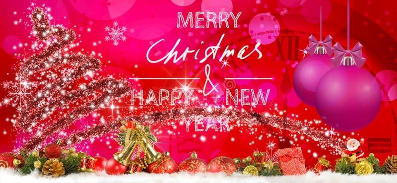 Εικόνα των υπέροχων χριστουγεννιάτικων διακοσμήσεων του καλλιτέχνη της γιορτής στοκ φωτογραφίες