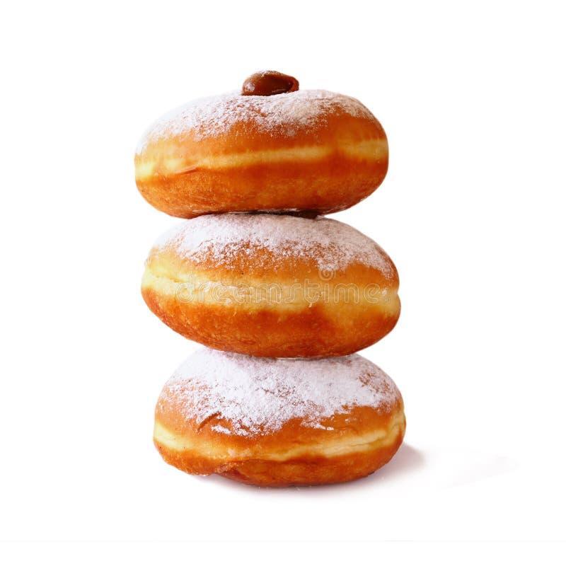 Εικόνα των donuts Απομονωμένος στο λευκό εβραϊκό σύμβολο Hanukkah διακοπών στοκ φωτογραφίες