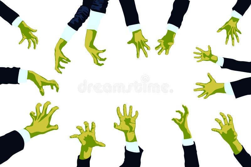 Εικόνα των zombies διανυσματική απεικόνιση