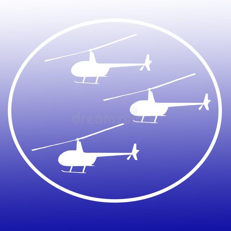 Εικόνα υποβάθρου εμβλημάτων λογότυπων ελικοπτέρων μπαλτάδων απεικόνιση αποθεμάτων