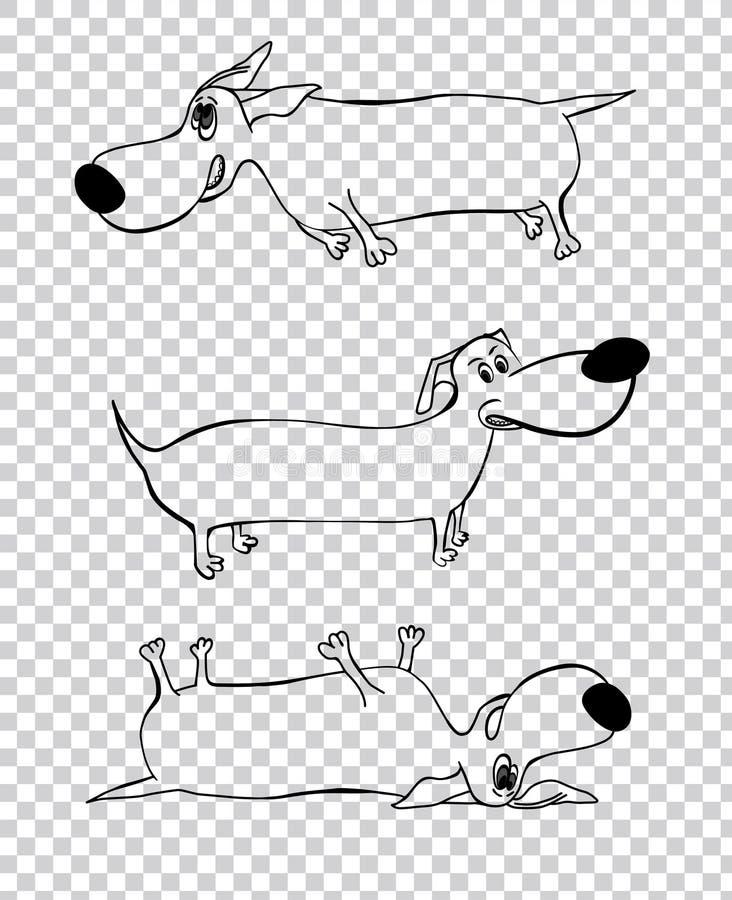 Εικόνα χαρακτήρα σκυλιών απεικόνιση αποθεμάτων