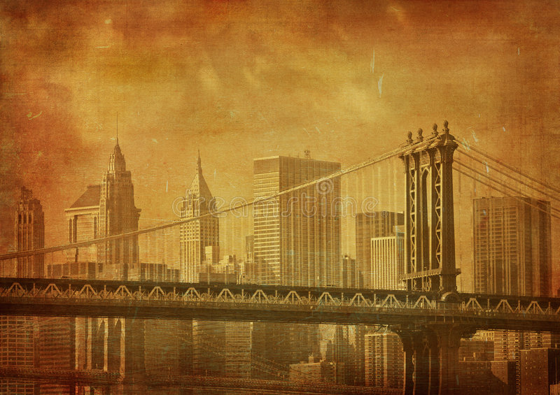 Εικόνα Grunge της πόλης της Νέας Υόρκης διανυσματική απεικόνιση
