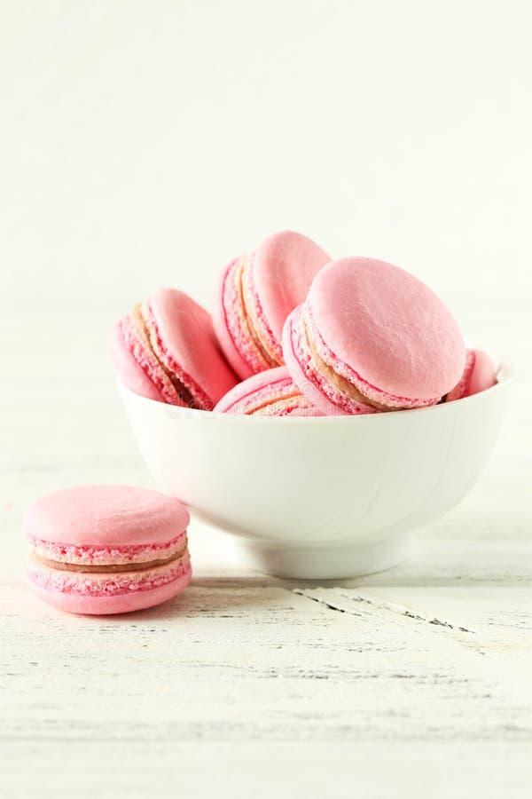 εικόνα macarons κανένα ροζ viewable στοκ εικόνες