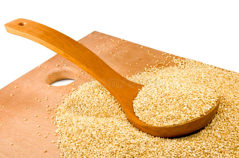 Εικόνα quinoa της κινηματογράφησης σε πρώτο πλάνο σιταριών στοκ φωτογραφία με δικαίωμα ελεύθερης χρήσης