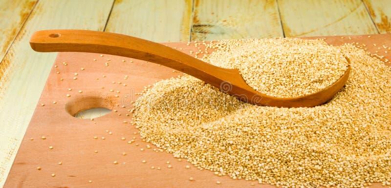 Εικόνα quinoa της κινηματογράφησης σε πρώτο πλάνο σιταριών στοκ εικόνες με δικαίωμα ελεύθερης χρήσης