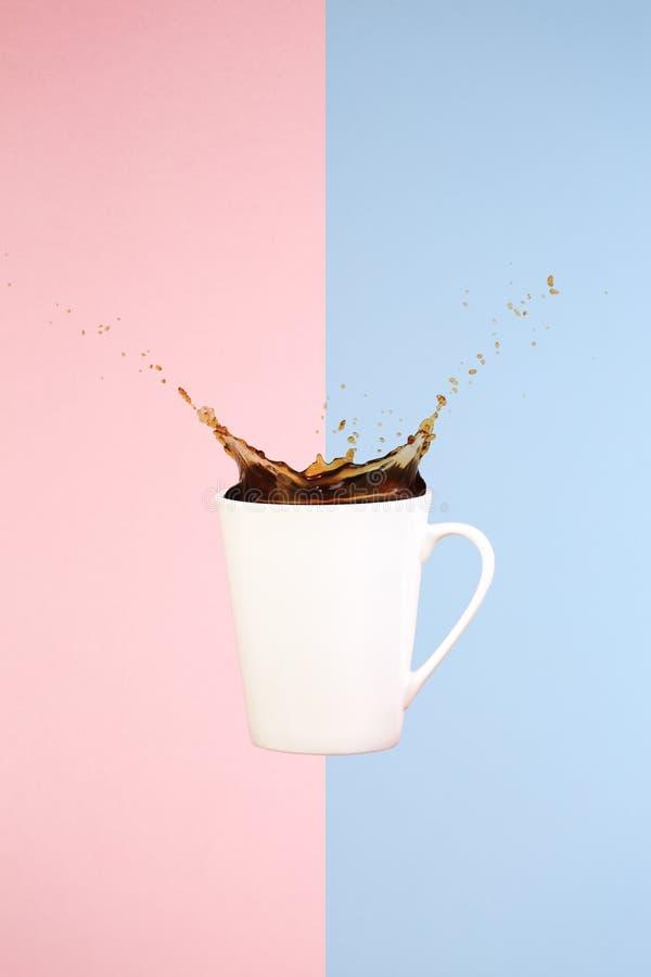 εικόνες έννοιας συλλογών καφέ τέχνη ελάχιστη Σταθερές βάσεις Παφλασμοί καφέ στοκ φωτογραφία με δικαίωμα ελεύθερης χρήσης
