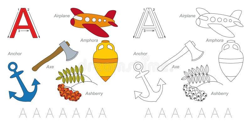Εικόνες για το γράμμα Α διανυσματική απεικόνιση