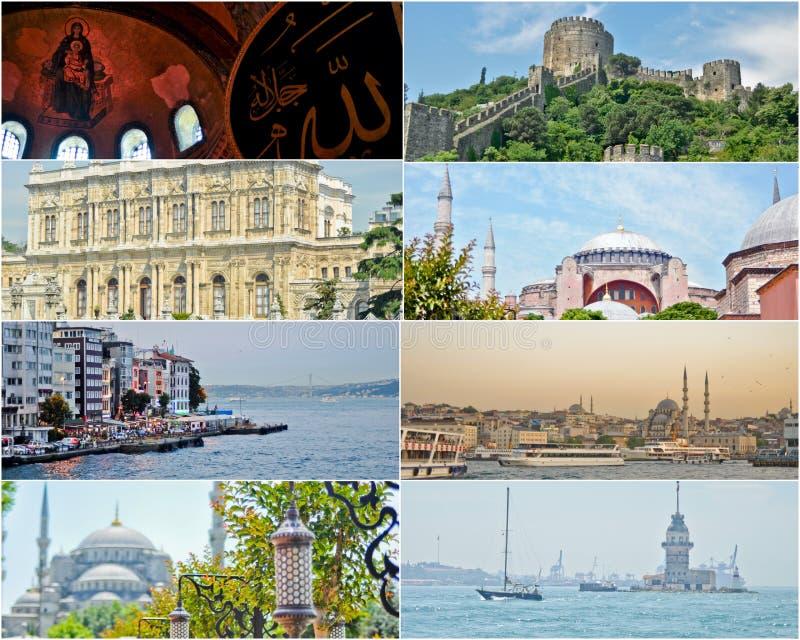 εικόνες Κωνσταντινούπολη Τουρκία κολάζ στοκ εικόνα με δικαίωμα ελεύθερης χρήσης
