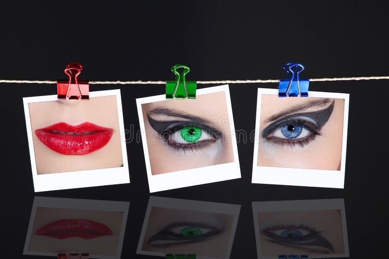 Εικόνες στη σκοινί για άπλωμα στοκ εικόνα με δικαίωμα ελεύθερης χρήσης