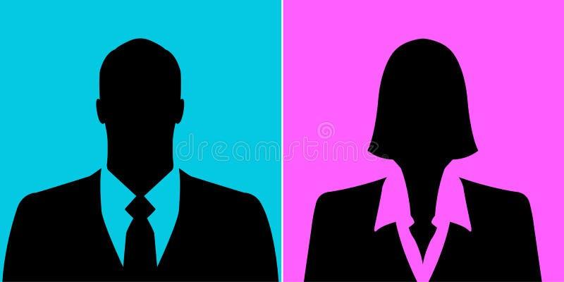 Εικόνες σχεδιαγράμματος ειδώλων επιχειρηματιών και επιχειρηματιών διανυσματική απεικόνιση