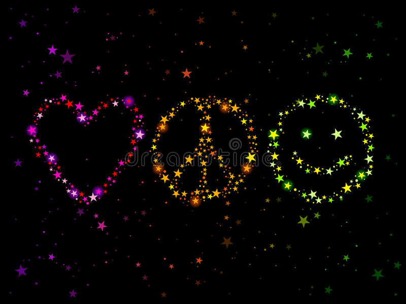 ειρήνη αγάπης ευτυχίας απεικόνιση αποθεμάτων