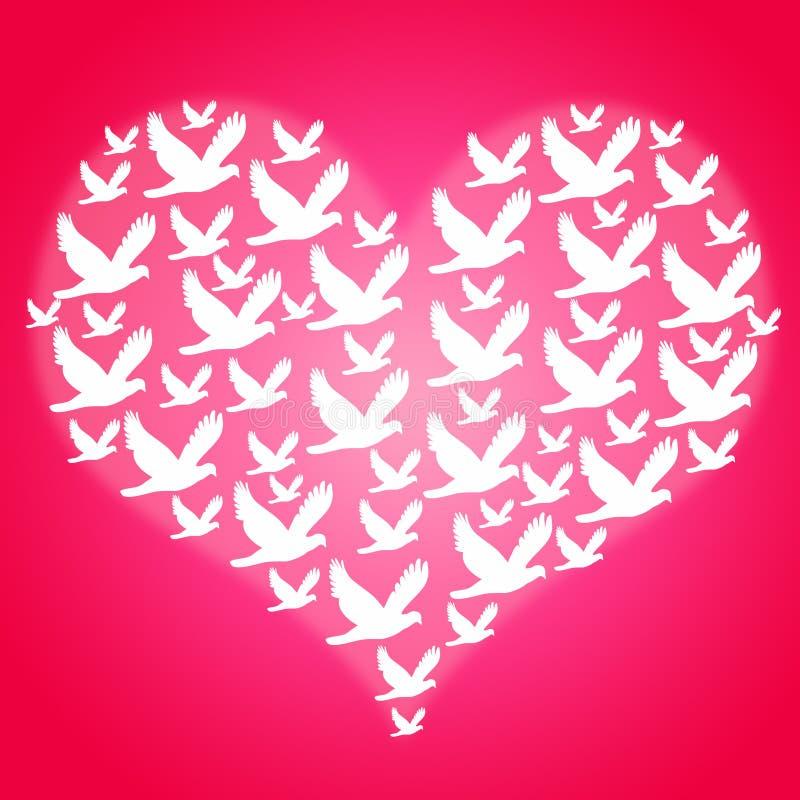 ειρήνη και αγάπη διανυσματική απεικόνιση