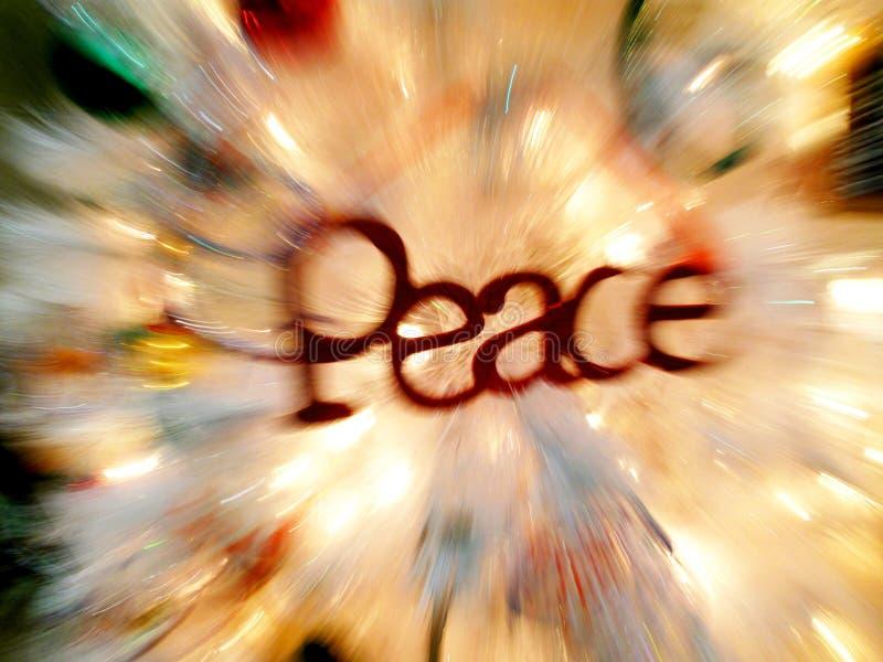 Ειρήνη στα Χριστούγεννα στοκ εικόνες