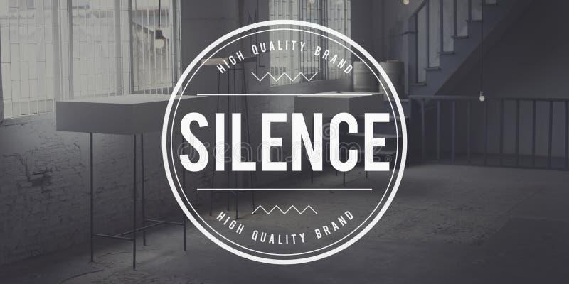 Ειρηνική ήρεμη σιωπηλή έννοια ησυχίας σιωπής ακόμα στοκ εικόνα με δικαίωμα ελεύθερης χρήσης