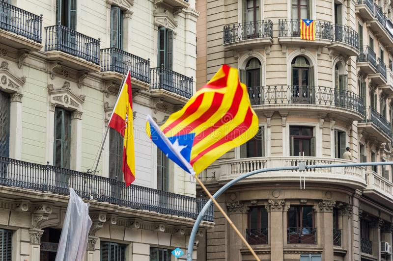 Ειρηνική διαμαρτυρία, Βαρκελώνη στοκ εικόνες
