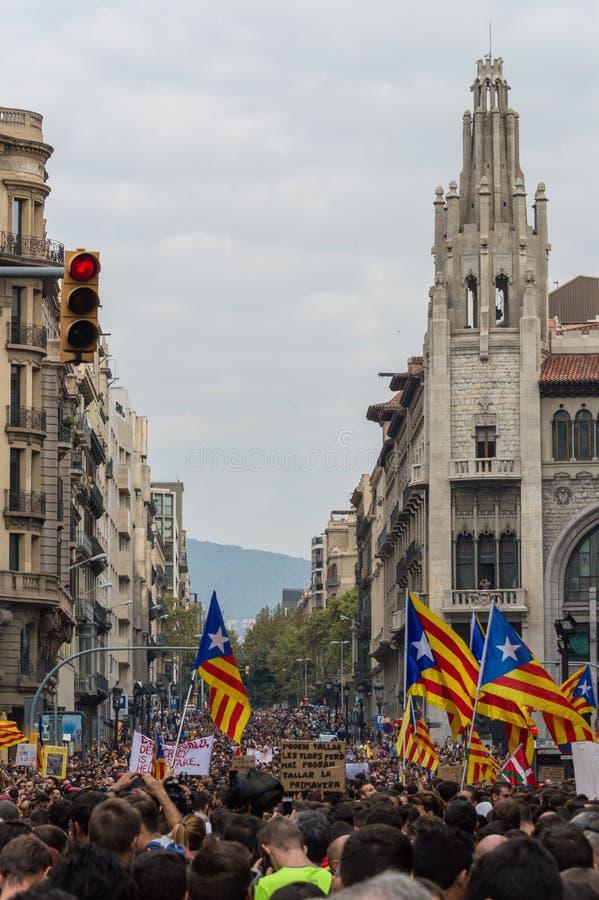 Ειρηνική διαμαρτυρία, Βαρκελώνη στοκ φωτογραφίες