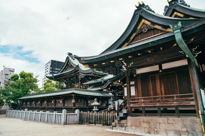 Ειρηνικός αθόρυβος ναός tenmangu στοκ εικόνα