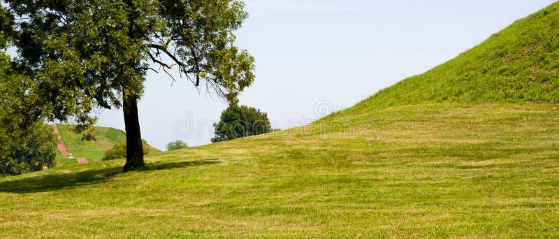 Ειρηνικός και χαριτωμένος λόφος με τα δέντρα στοκ φωτογραφία με δικαίωμα ελεύθερης χρήσης