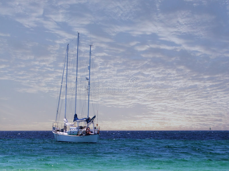 ειρηνικό σκάφος στοκ εικόνες