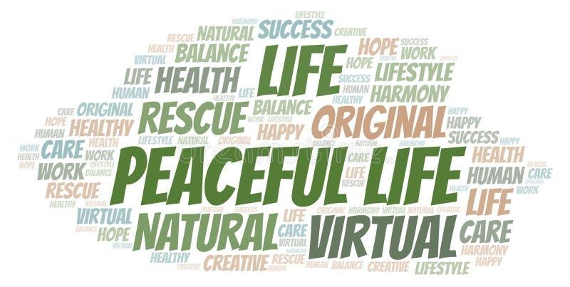 Ειρηνικό σύννεφο λέξης ζωής ελεύθερη απεικόνιση δικαιώματος