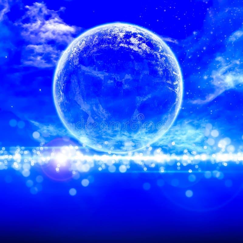 Ειρηνικό υπόβαθρο, νυχτερινός ουρανός με τη πανσέληνο στοκ φωτογραφία