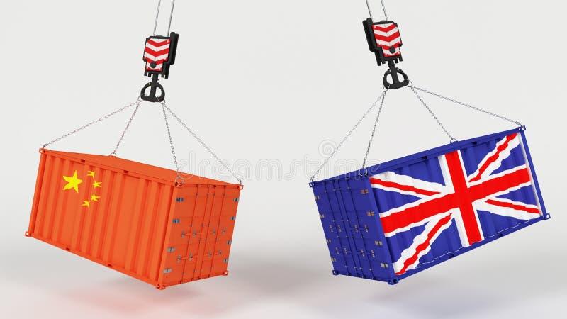 Εισαγωγή Tarrifs βρετανικού εμπορίου ελεύθερη απεικόνιση δικαιώματος