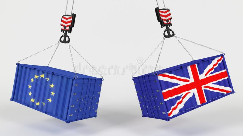 Εισαγωγή Tarrifs βρετανικού εμπορίου απεικόνιση αποθεμάτων